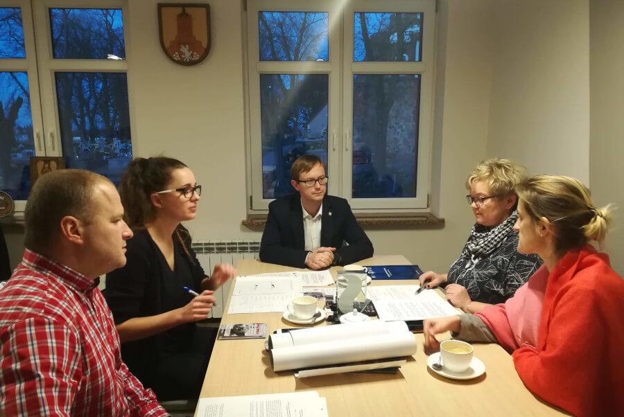 Spotkanie w Urzędzie Gminy Lisewo